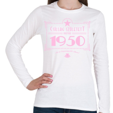 PRINTFASHION csillag-1950-pink - Női hosszú ujjú póló - Fehér
