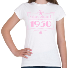 PRINTFASHION csillag-1950-pink - Női póló - Fehér