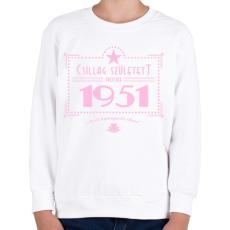 PRINTFASHION csillag-1951-pink - Gyerek pulóver - Fehér