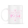 PRINTFASHION csillag-1954-pink - Bögre - Fehér