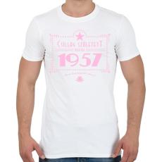 PRINTFASHION csillag-1957-pink - Férfi póló - Fehér