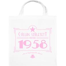 PRINTFASHION csillag-1958-pink - Vászontáska - Fehér
