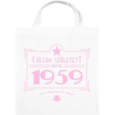 PRINTFASHION csillag-1959-pink - Vászontáska - Fehér