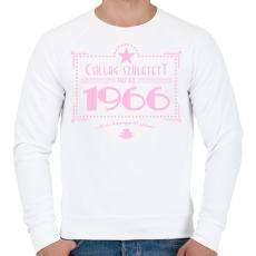 PRINTFASHION csillag-1966-pink - Férfi pulóver - Fehér