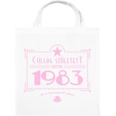 PRINTFASHION csillag-1983-pink - Vászontáska - Fehér