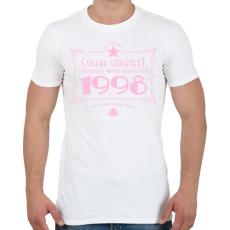 PRINTFASHION csillag-1998-pink - Férfi póló - Fehér