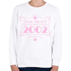 PRINTFASHION csillag-2002-pink - Gyerek pulóver - Fehér