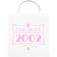 PRINTFASHION csillag-2002-pink - Vászontáska - Fehér