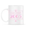 PRINTFASHION csillag-2005-pink - Bögre - Fehér