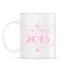 PRINTFASHION csillag-2013-pink - Bögre - Fehér