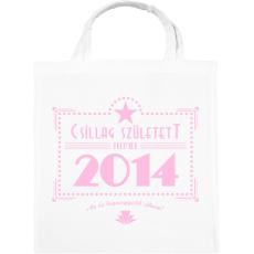 PRINTFASHION csillag-2014-pink - Vászontáska - Fehér
