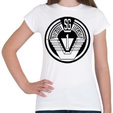 PRINTFASHION Csillagkapu csk1 logo - Női póló - Fehér