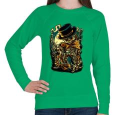 PRINTFASHION Csont bandita - Női pulóver - Zöld