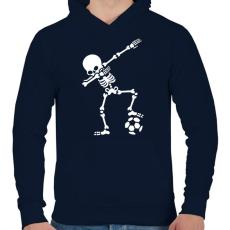 PRINTFASHION Dab foci - Férfi kapucnis pulóver - Sötétkék
