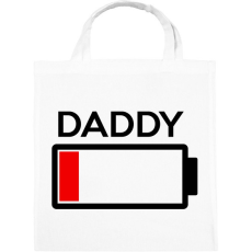 PRINTFASHION DADDY - Vászontáska - Fehér