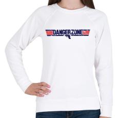 PRINTFASHION Danger Zone - Női pulóver - Fehér