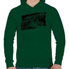 PRINTFASHION Daytona - Férfi kapucnis pulóver - Sötétzöld