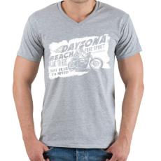 PRINTFASHION Daytona - Férfi V-nyakú póló - Sport szürke