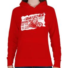 PRINTFASHION Daytona - Női kapucnis pulóver - Piros