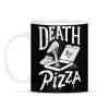 PRINTFASHION Death by pizza - Bögre - Fekete
