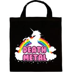 PRINTFASHION Death Metal unikornis - Vászontáska - Fekete