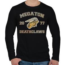 PRINTFASHION Deathclaws - Férfi hosszú ujjú póló - Fekete