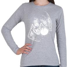 PRINTFASHION Denevér - Női hosszú ujjú póló - Sport szürke