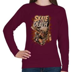 PRINTFASHION Deszka vagy halál - Női pulóver - Bordó