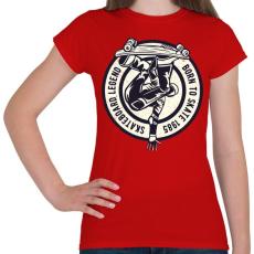 PRINTFASHION Deszkás legenda - Női póló - Piros