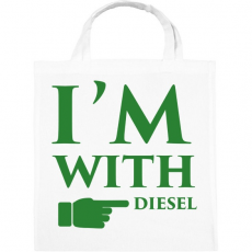 PRINTFASHION diesel.png - Vászontáska - Fehér