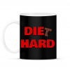 PRINTFASHION DIET HARD - Bögre - Fekete