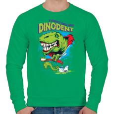 PRINTFASHION Dínófog - Férfi pulóver - Zöld