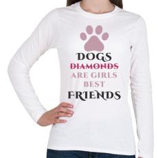 PRINTFASHION Dog best friend - Női hosszú ujjú póló - Fehér
