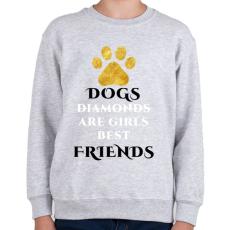 PRINTFASHION Dog friend - Gyerek pulóver - Sport szürke