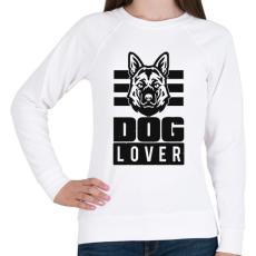 PRINTFASHION Dog Lover - Női pulóver - Fehér