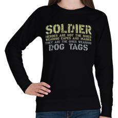 PRINTFASHION Dog tags - Női pulóver - Fekete