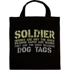 PRINTFASHION Dog tags - Vászontáska - Fekete