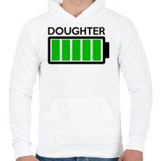 PRINTFASHION DOUGHTER - Férfi kapucnis pulóver - Fehér