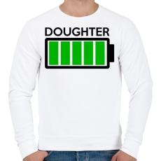 PRINTFASHION DOUGHTER - Férfi pulóver - Fehér