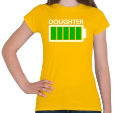 PRINTFASHION DOUGHTER - Női póló - Sárga
