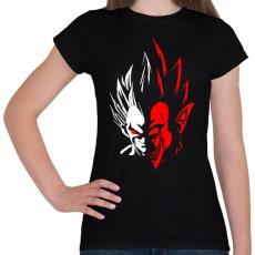 PRINTFASHION Dragonball - Vegita - Női póló - Fekete