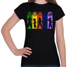 PRINTFASHION Dragonball Z harcosok - Női póló - Fekete