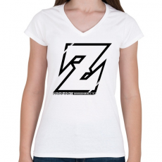 PRINTFASHION Dragonball Z - Női V-nyakú póló - Fehér