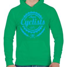 PRINTFASHION Dühös biciklis - Férfi kapucnis pulóver - Zöld
