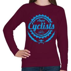 PRINTFASHION Dühös biciklis - Női pulóver - Bordó