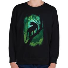 PRINTFASHION Dzsungel könyve - Gyerek pulóver - Fekete