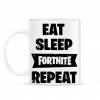 PRINTFASHION Eat-Sleep-Fortnite-Repeat - Bögre - Fehér