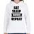 PRINTFASHION Eat-Sleep-Fortnite-Repeat - Női kapucnis pulóver - Fehér