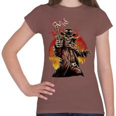 PRINTFASHION Egy lövés - Női póló - Mogyoróbarna