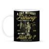 PRINTFASHION Egy nap horgászat nélkül... - Bögre - Fekete